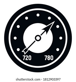 Analog barometer icon. Simple illustration of analog barometer vector icon for web design isolated on white background
