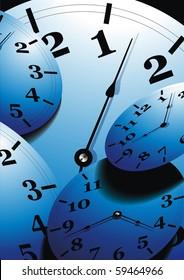Analog clock. Vector illustration