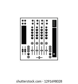 Analog DJ mixer flat vector pictogram.
