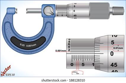 Analog Outside Micrometer (0.001mm,)
