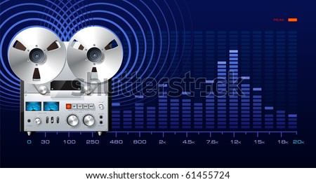 Analog Recorder Spectrum Analyzer Stock Vector (Royalty Free