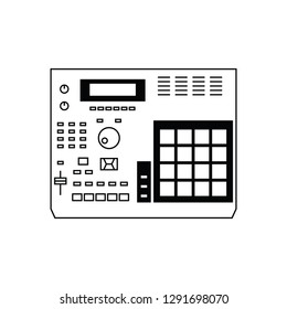 Analog sampler flat vector pictogram