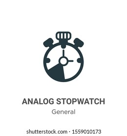 Analog stopwatch vector icon on white background. Flat vector analog stopwatch icon symbol sign from modern general collection for mobile concept and web apps design.