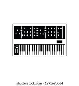 Analog synthesizer flat vector pictogram