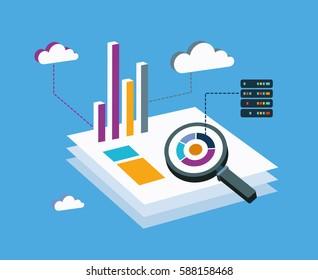 Analysis Big Data isometric