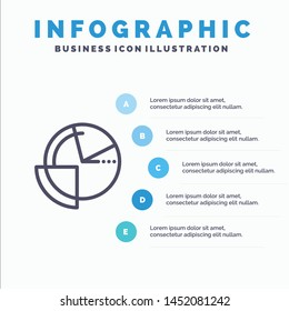 Analysis, Chart, Data, Diagram, Monitoring Line icon with 5 steps presentation infographics Background