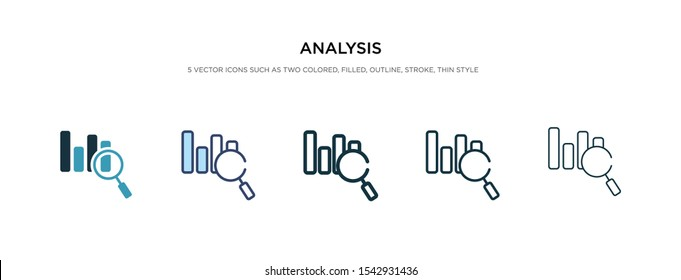 analysis icon in different style vector illustration. two colored and black analysis vector icons designed in filled, outline, line and stroke style can be used for web, mobile, ui