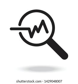 Analysis icon vector illustration .Data analysis icon.Magnifying glass icon.