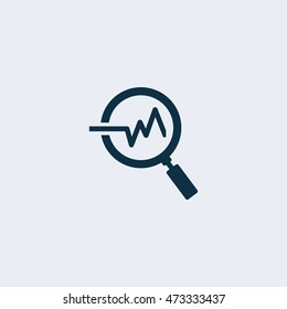 Analysis icon,Vector illustration