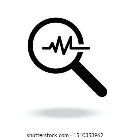 Analysis icon,Vector illustration.manification icon vector