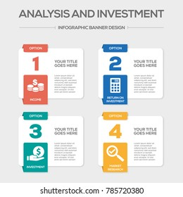 Analysis and Investment Infographic Icons