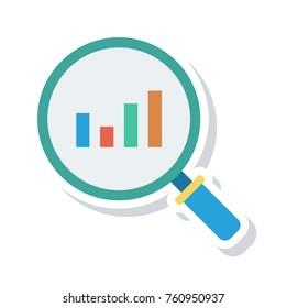 analysis sticker icon