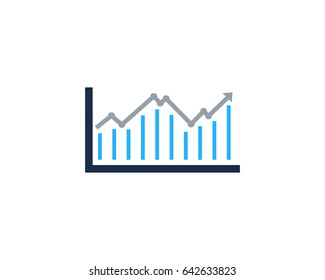 Analysis Stock Market Icon Logo Design Element
