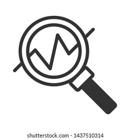 Analysis Stock Thin Line Vector Icon. Editable Stroke.