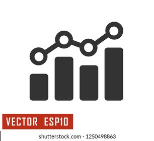 Analytic static vector. illustration Symbol logo.