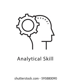Analytical Skills Vector Line Icon