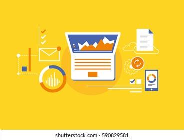 Analytics for business management, internet marketing