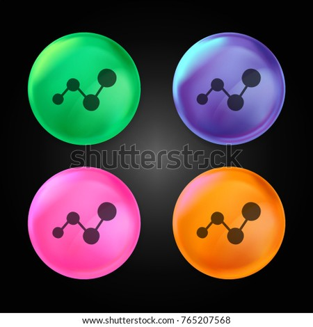 Analytics Chart Symbol Crystal Ball Design Stock Vector (Royalty