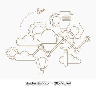Analytics clouds infographics