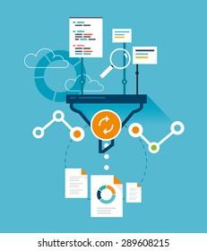 Analytics funnel, website optimization