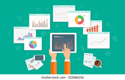 analytics graph SEO business on mobile device