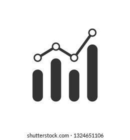 Analytics icon design template vector isolated illustration