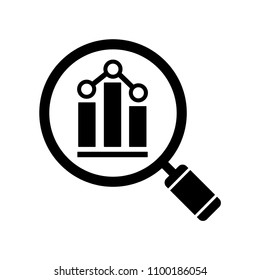 Analytics icon. Vector illustration in flat style