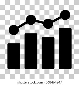 Analytics icon. Vector illustration style is flat iconic symbol, black color, transparent background. Designed for web and software interfaces.