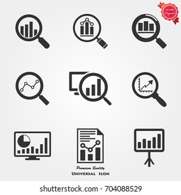 Analytics icons vector