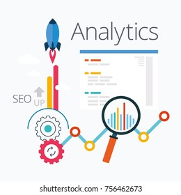 Analytics Infographic of SEO, Analytics Infographic Elements