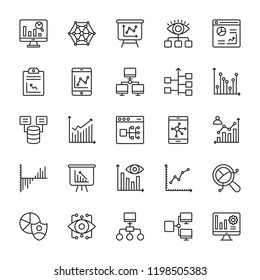 Analytics Line Vector Icons