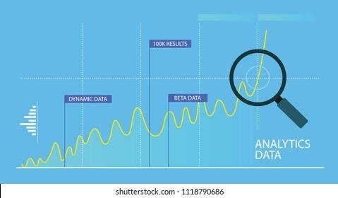 Analytics metrics, data visualization, financial schedule, Finance Graph