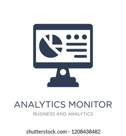 Analytics Monitor icon. Trendy flat vector Analytics Monitor icon on white background from Business and analytics collection, vector illustration can be use for web and mobile, eps10
