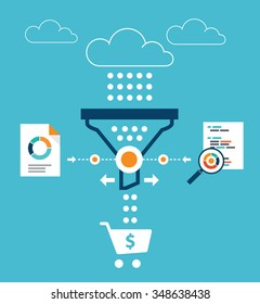 Analytics for sales funnel