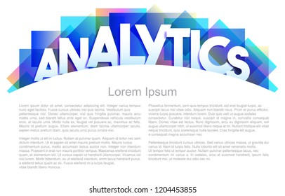 Analytics word vector concept with copy space