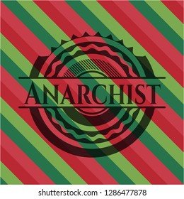 Anarchist christmas style badge..