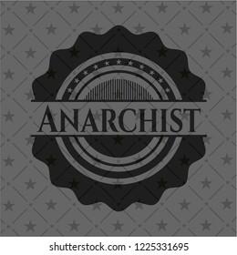 Anarchist dark badge