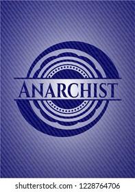Anarchist emblem with jean background