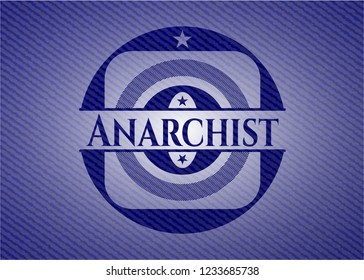 Anarchist emblem with jean high quality background