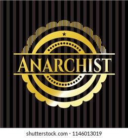 Anarchist gold shiny emblem
