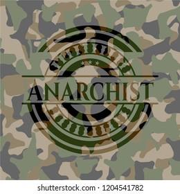 Anarchist on camouflaged texture