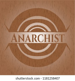 Anarchist realistic wood emblem
