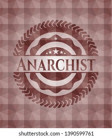 Anarchist red geometric badge. Seamless.