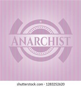 Anarchist retro pink emblem