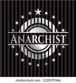 Anarchist silver shiny emblem