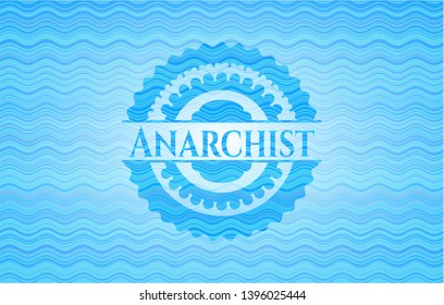 Anarchist water badge. Vector Illustration. Detailed.