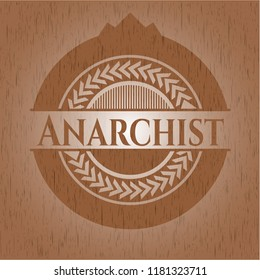Anarchist wood emblem. Retro