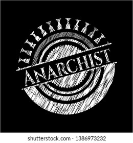 Anarchist written on a blackboard. Vector Illustration. Detailed.
