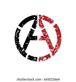 Anarchy atheism communist logo logotype vector art