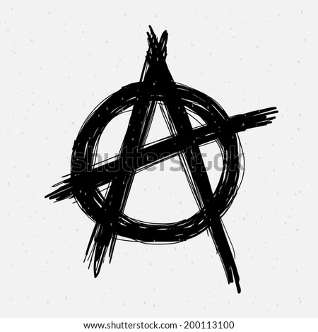 Anarchy Symbol Drawing Stock Vector Royalty Free 200113100